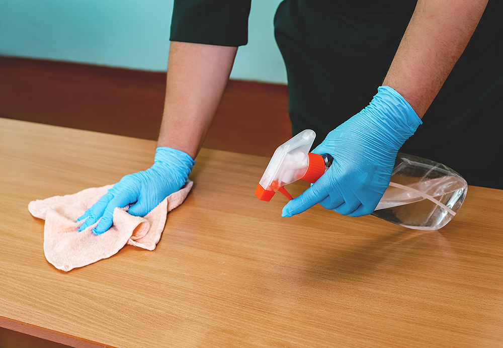 On-Site Cleaning Crew Keeps Spaces Germ-Free